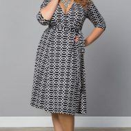 Kiyonna Essential Wrap Dress sizes 10+