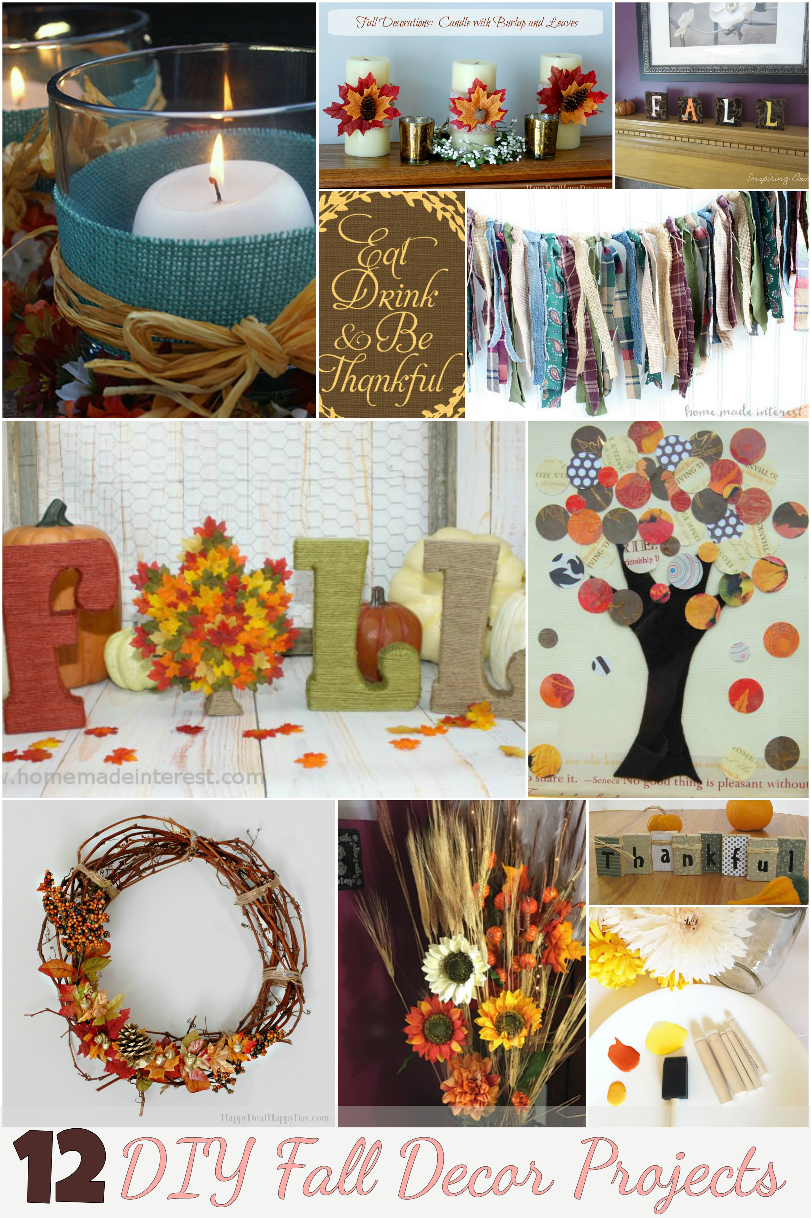 Decorate for the thanksgiving with these 12 diy fall decor Fall home decorating ideas diy