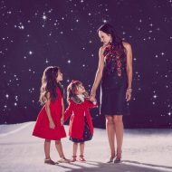 Soooo cute!  Check out the J&J Holiday collection for Mommy and Me Holiday Outfits #ad